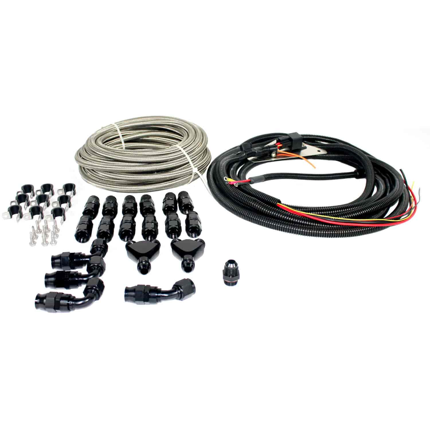 fuelab 21911 plumbing and wiring harness kit for 2005 2009 mustangs e85 compatible jegs. Black Bedroom Furniture Sets. Home Design Ideas