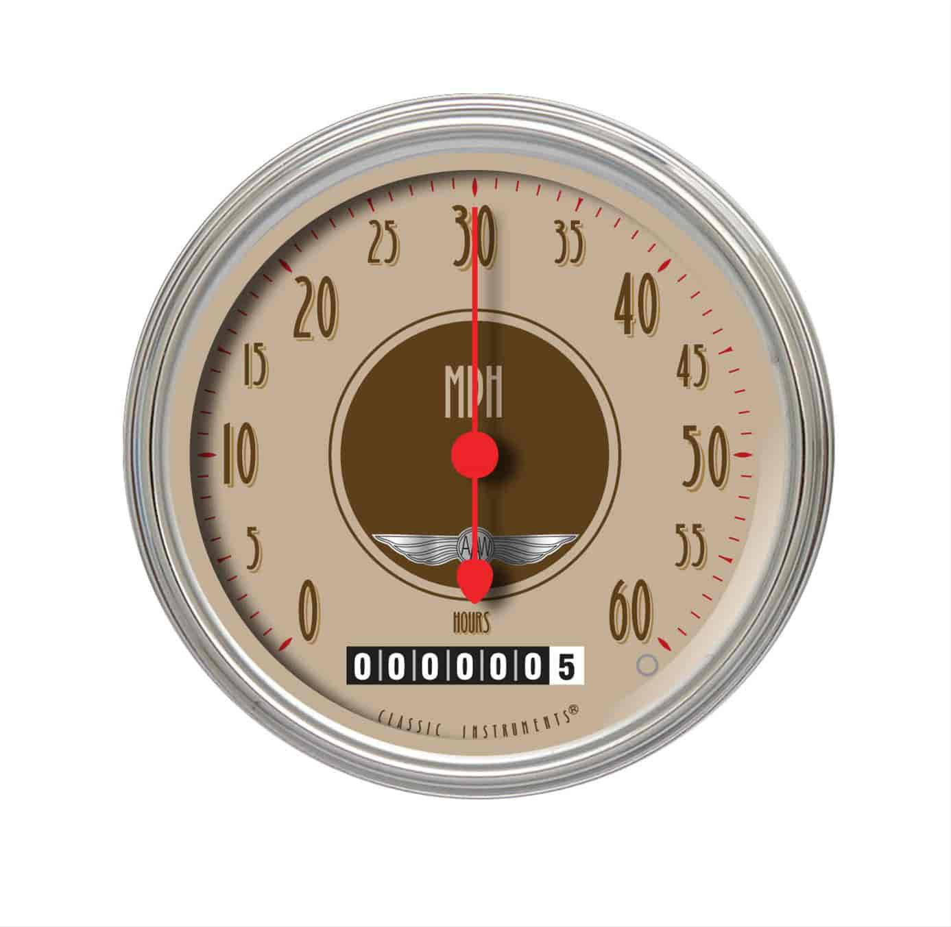 Vintage Hour Meter : Classic instruments lsvt low speed series speedometer