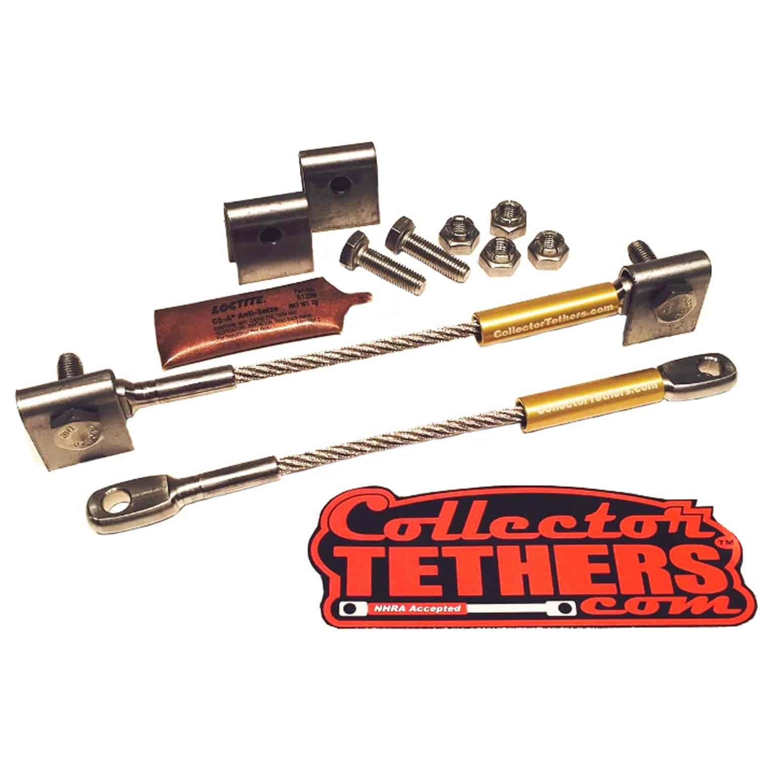 Collector Tethers 4040-WSS-GLD