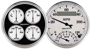 Auto Meter 1203 - Auto Meter Old Tyme White II Gauges