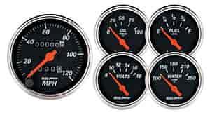 """Auto Meter 1424 2-1//16/"""" Designer Black Fuel Level Gauge Air-Core 240-33 Ohm"""