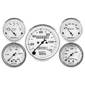 Auto Meter 1693 Old Tyme White Mechanical Speedometer
