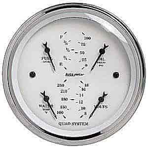 Auto Meter 1614 - Auto Meter Old Tyme White Gauges