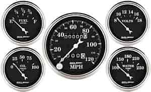 Auto Meter 1708 - Auto Meter Old Tyme Black Gauges