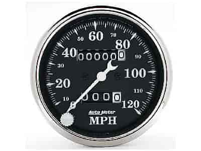 Auto Meter 1796 - Auto Meter Old Tyme Black Gauges