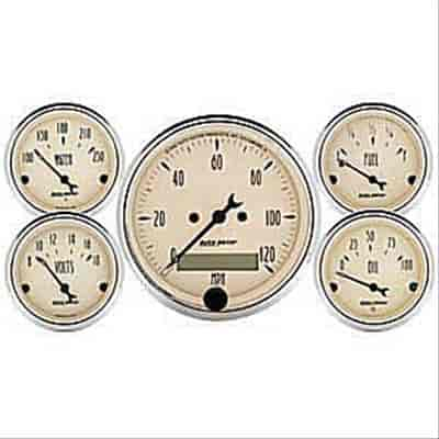 Auto Meter 1809 - Auto Meter Antique Beige Gauges