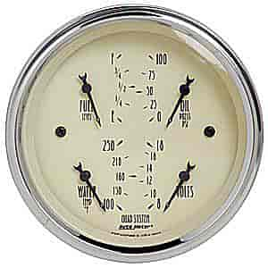 Auto Meter 1812 - Auto Meter Antique Beige Gauges