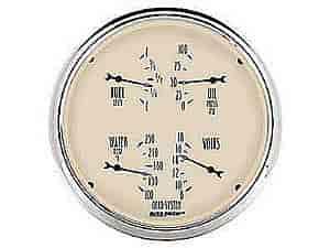 Auto Meter 1814 - Auto Meter Antique Beige Gauges