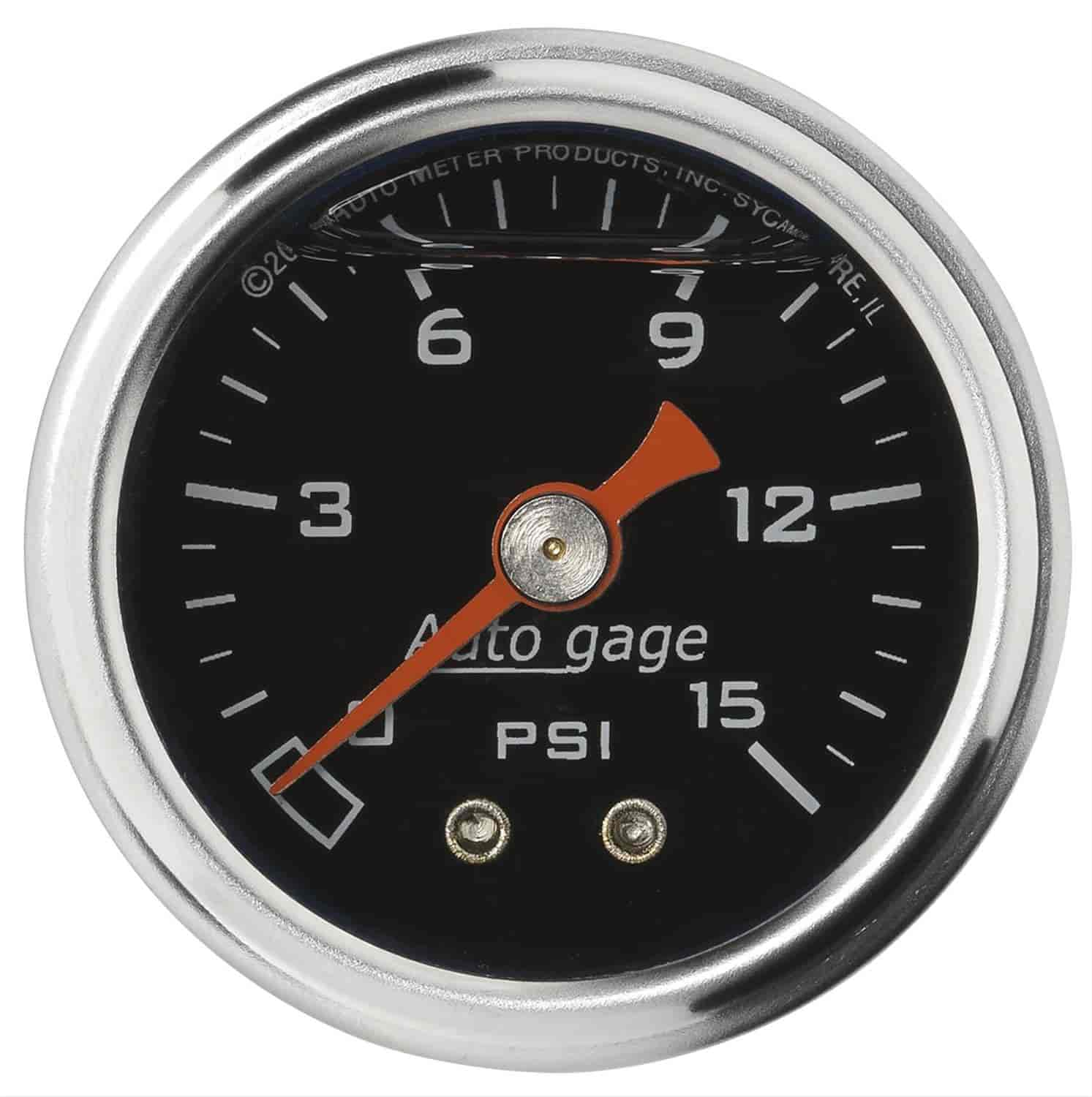 Auto Meter 2172 - Auto Meter 1-1/2'' Direct Mount Pressure Gauges