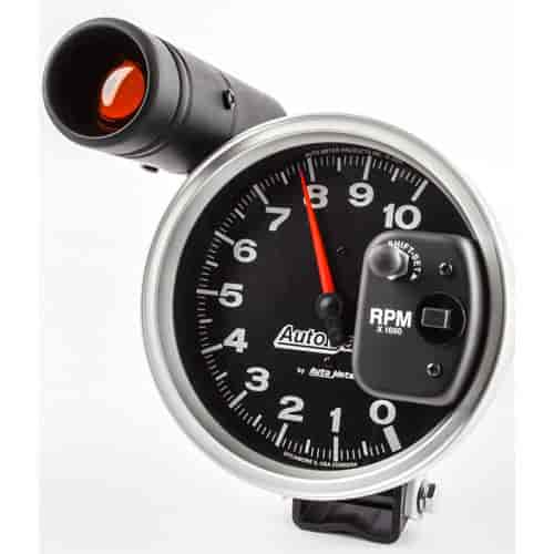 Auto Meter Autoe Pedestal-Mount Tach 10,000 RPM with Shiftlight on