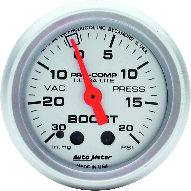Auto Meter 4301: Ultra-Lite Vacuum/Boost Gauge 2-1/16\