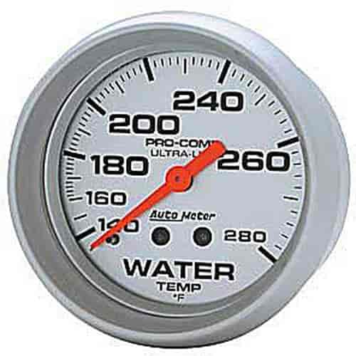 "Autometer Sport-Comp Electrical Water Temperature Gauge 2 5//8/"" Dia Black Face"
