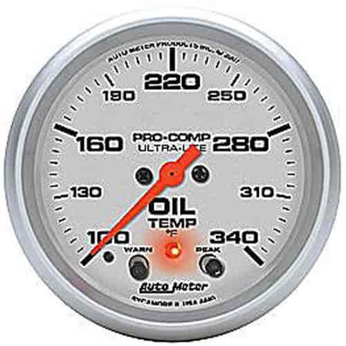 Auto Meter 4440 Ultra-Lite Electric Oil Temperature Gauge