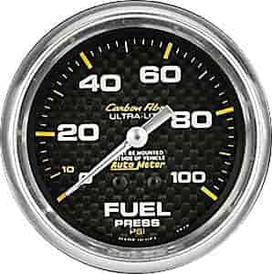 Auto Meter 4412 Ultra-Lite 2-5//8 0-100 PSI Mechanical Fuel Pressure Gauge