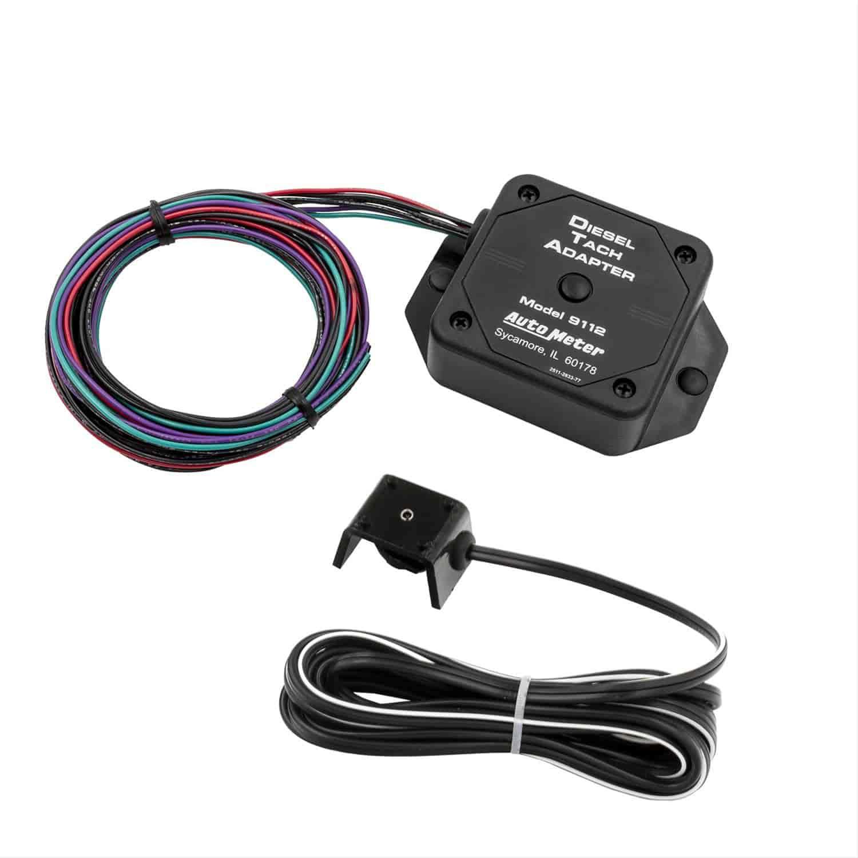 auto meter 9112 diesel tach adapter jegs Auto Meter Street Tach Wiring Diagram auto meter 9112