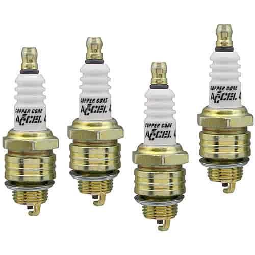 Accel Spark Plugs 0437S-4: Copper Core Spark Plugs Shorty
