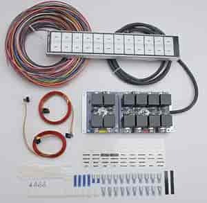 arc auto rod controls 12000r 12 switch flat touch control panel rh jegs com arc 3700 switch panel wiring diagram Relay Switch Wiring to Panel