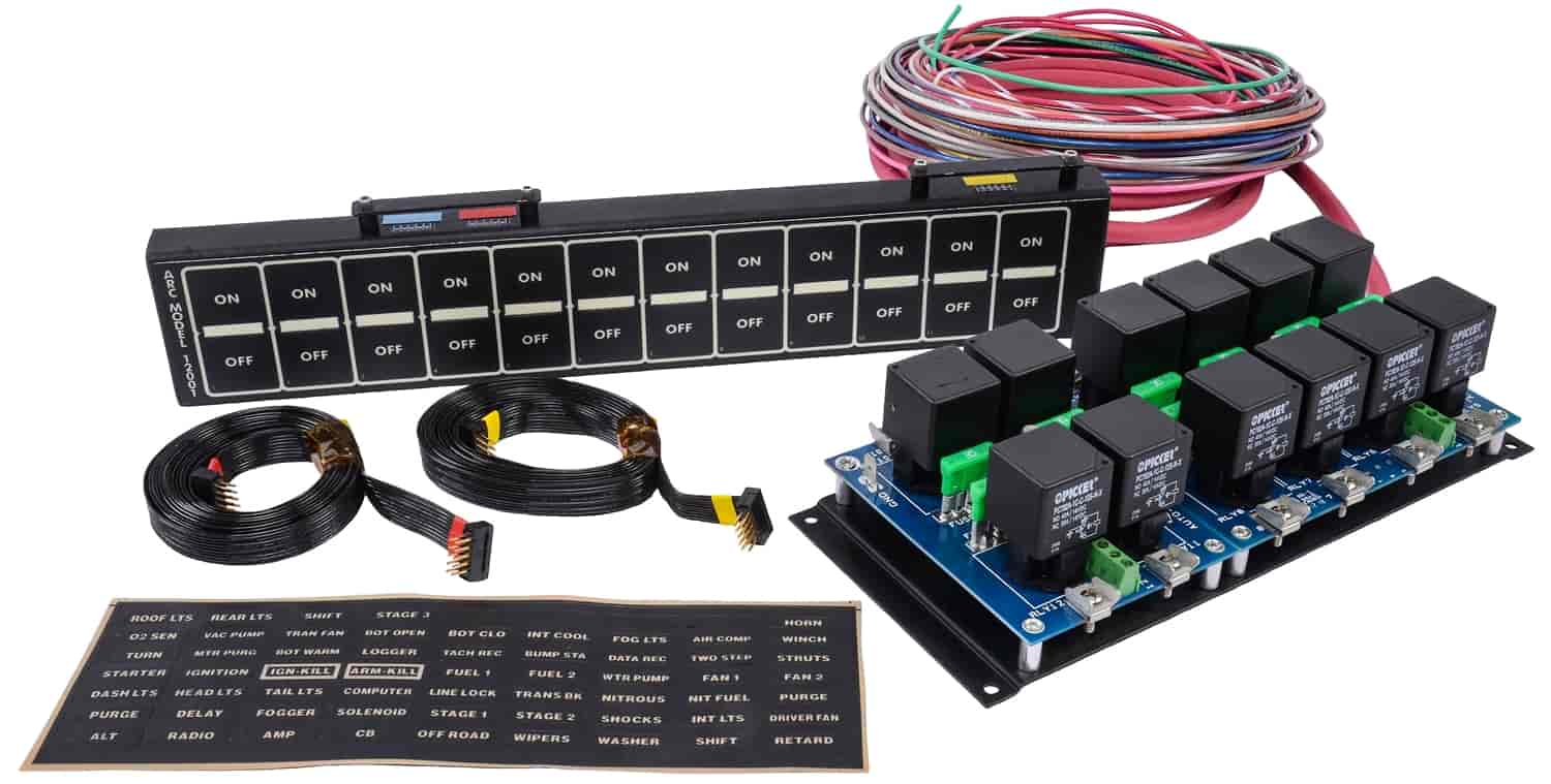 ARC - Auto Rod Controls 12 Switch Flat Touch Control Panel