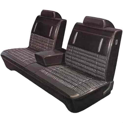 Legendary Auto Interiors 51896 Aa72clvc030878 72 Dart Swinger Scamp Split Bench Blk White
