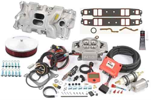 msd ignition 2900k small block chevy intake efi kit max. Black Bedroom Furniture Sets. Home Design Ideas