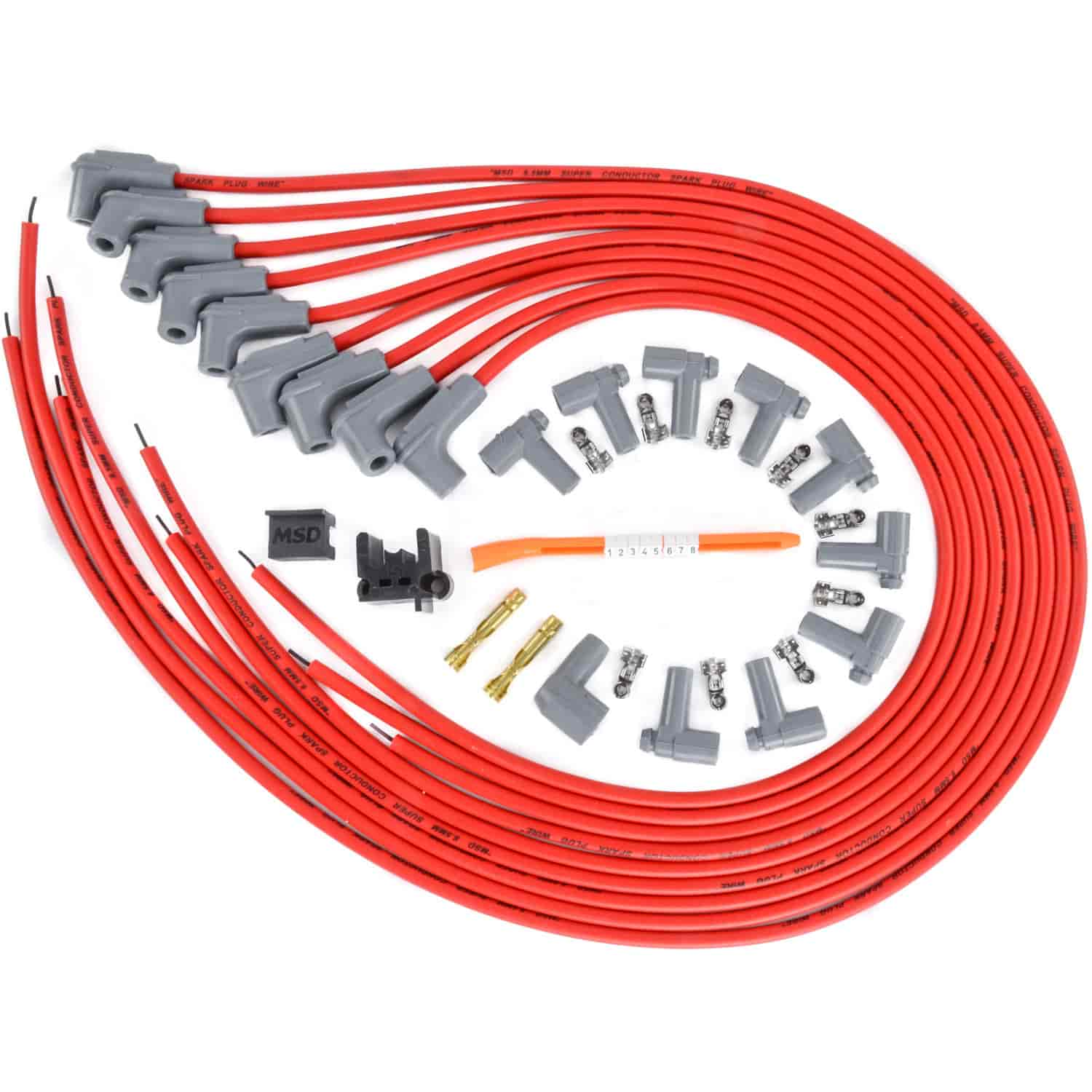 Msd Ignition 31229 Red Universal 85mm Spark Plug Wire Set 8 Wiring Diagram Chev 350