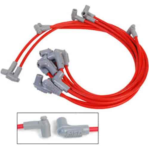 MSD Ignition 31359: Super Conductor 8.5mm Wires Red | JEGS