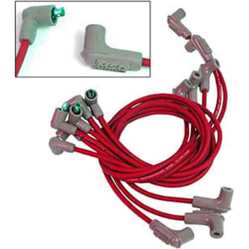CHEVY 327 350 SMALL RED FEMALE CAP HEI DISTRIBUTOR 8.5mm WIRES under exhaust