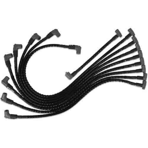 MSD Ignition 35591: Super Conductor 8.5mm Sleeved Wire Set Black | JEGS