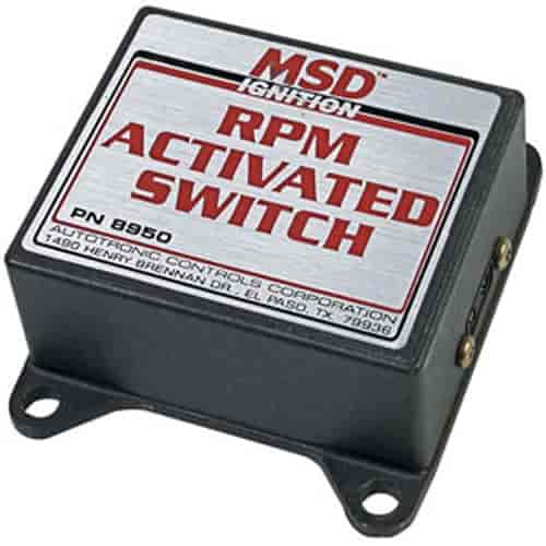 msd ignition 8950 rpm activated switch up to 1 5 amps includes 2 msd ignition 8950