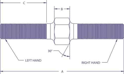 "Steel Male-Male 1//2-20 4.00/"" Oal QA1 ASM8-40 Linkage Adjuster Yellow zinc"