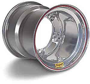 Bassett Wheels 50SR75S - Bassett Wide-Five Silver Wheels