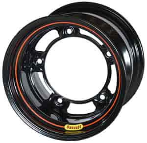 Bassett Wheels 51SR6L - Bassett Wide-Five Beadlock Black Wheels
