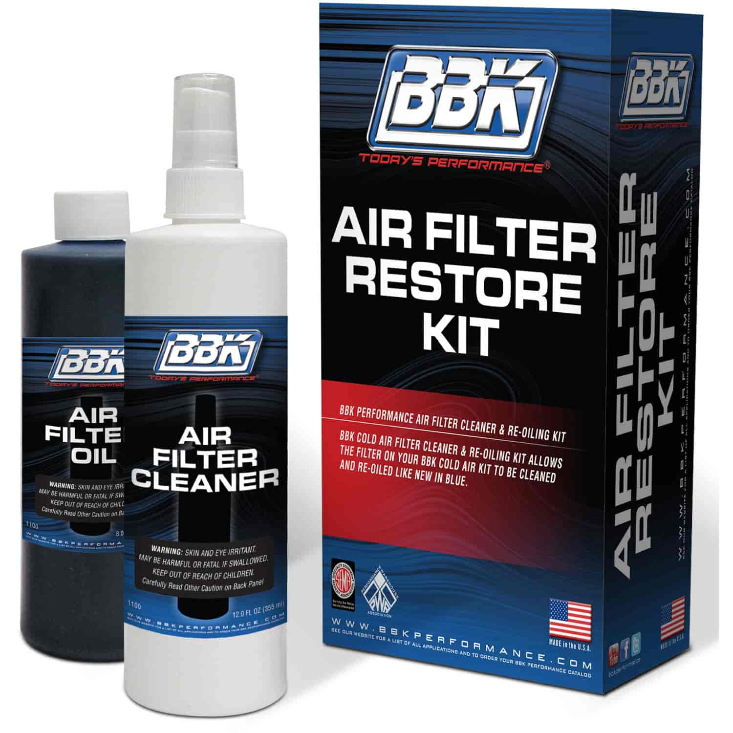 BBK Performance Parts 1100 - BBK Performance Parts High Flow Cold Air Intake Replacement Air Filters