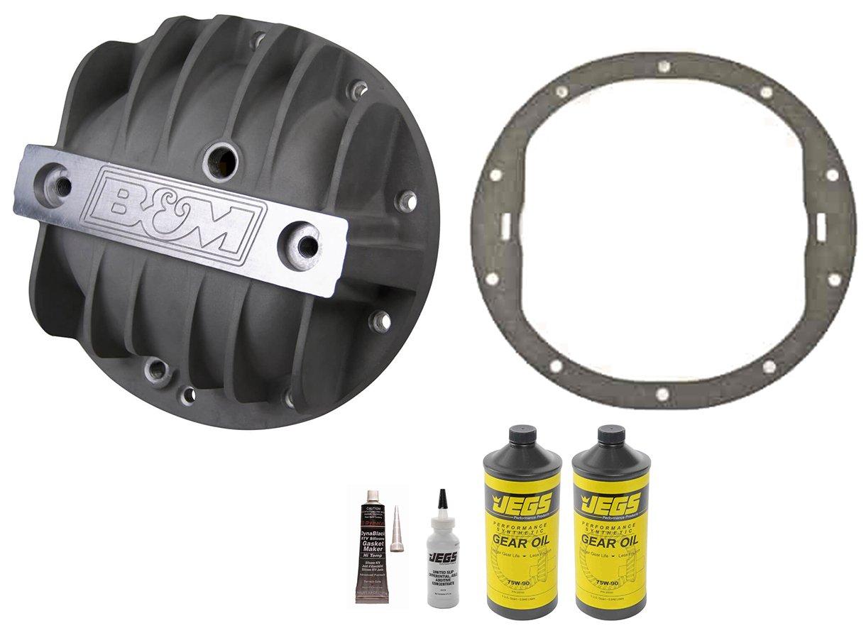 "B/&M 71502 Black Cast Aluminum Differential Cover for GM 8.2/""//8.5/""//8.6/"" 10 Bolt"