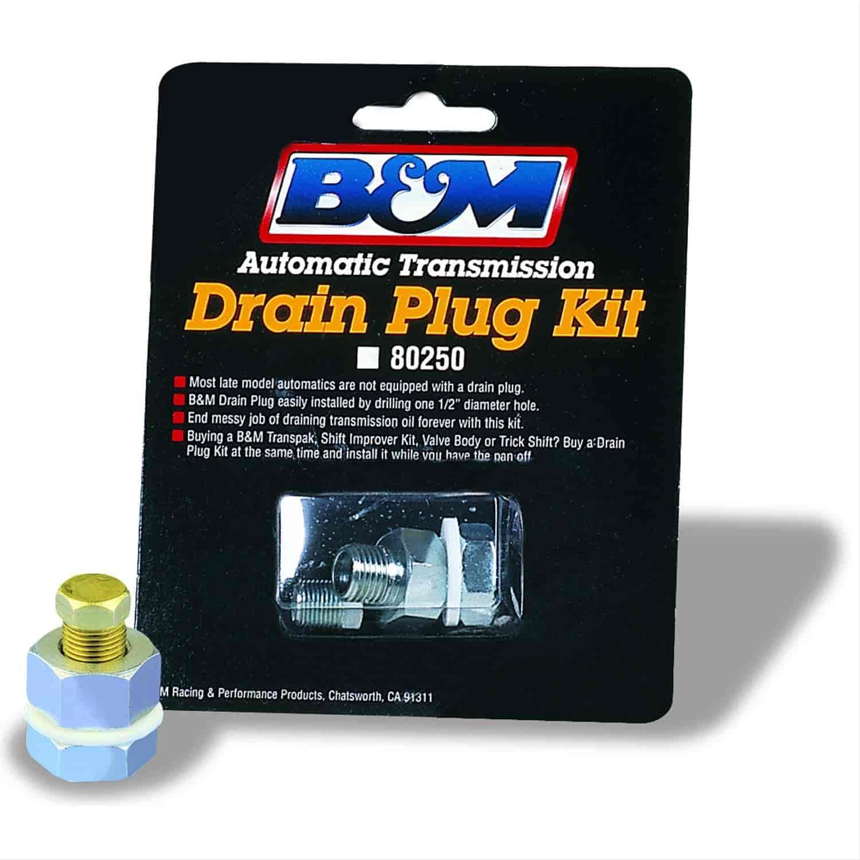 B Amp M 80250 Universal Transmission Drain Plug Kit Hex Size