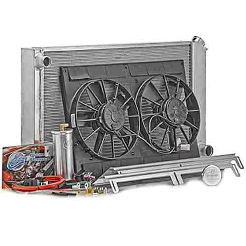 Be Cool Radiators 82168 - Be Cool Complete Crossflow Radiator Module Systems