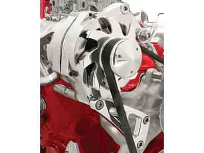 Billet Specialties FM0109PC - Billet Specialties Billet Aluminum Alternator Brackets