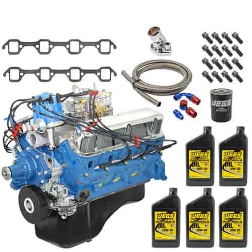 Blueprint engines bp3023ctck1 ford small block 302ci crate engine blueprint engines bp3023ctck1 ford small block 302ci crate engine with dress kit jegs malvernweather Choice Image