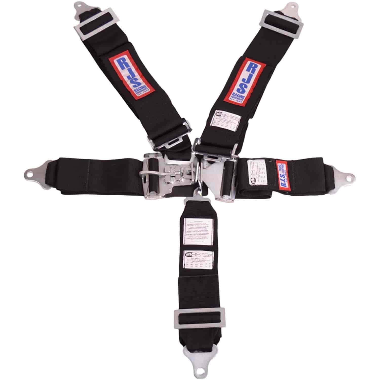 RJS RACING SFI 16.1 LATCH /& LINK 5 POINT SEAT BELT V HARNESS BOLT ORANGE 1126205