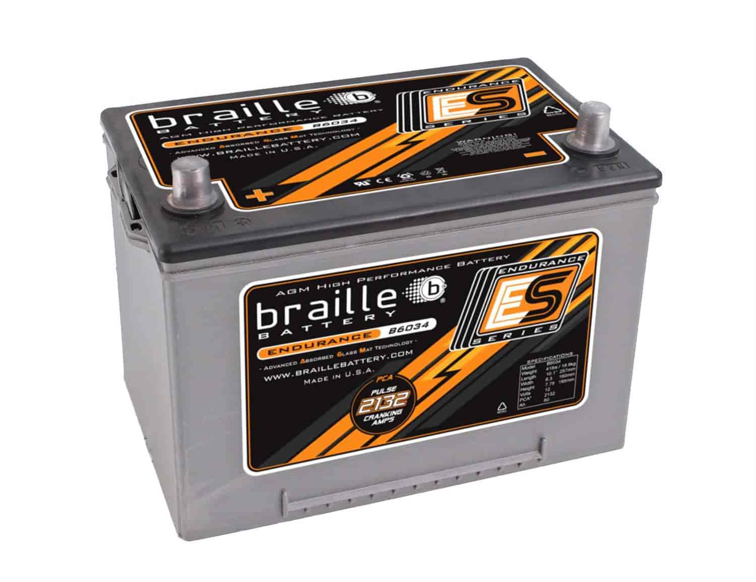 Braille Battery B6034 - Braille Endurance Series Batteries