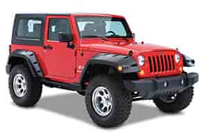 Bushwacker Body Gear 10046-02 - Bushwacker Fender Flares for Jeep