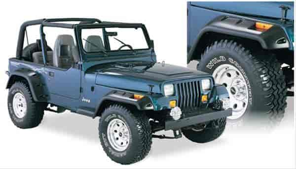 Bushwacker Body Gear 10909-07 - Bushwacker Fender Flares for Jeep