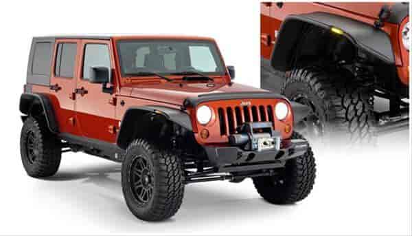 Bushwacker Body Gear 10918-07 - Bushwacker Fender Flares for Jeep
