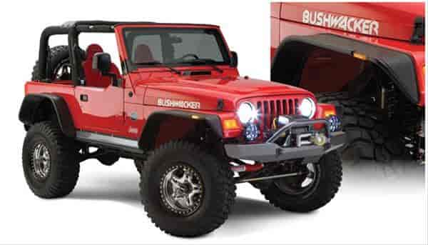 Bushwacker Body Gear 10920-07 - Bushwacker Fender Flares for Jeep