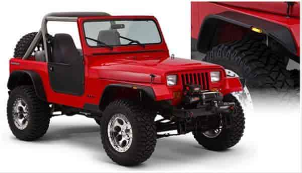Bushwacker Body Gear 10924-07 - Bushwacker Fender Flares for Jeep