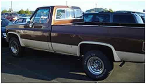 Bushwacker Body Gear Extend-A-Fender Flares 1973-87 Chevy Full Size Truck