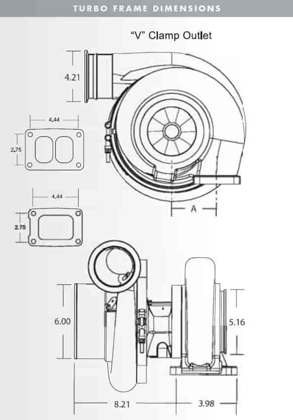 BorgWarner AirWerks S500SX 88mm 900-1475 HP Turbocharger | JEGS