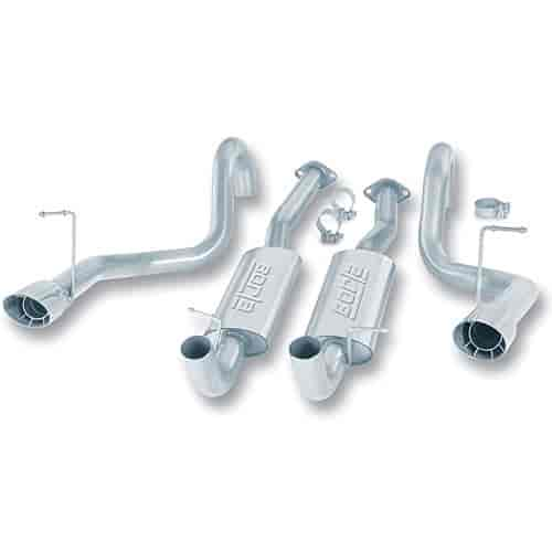 Borla 14445 - Borla Ford Car Stainless Steel Cat-Back Exhaust Systems