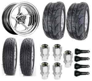 Center Line Wheels 7215805547K - Centerline / Mickey Thompson Muscle Car Wheel & Tire Packages
