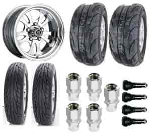 Center Line Wheels 7315805547K - Centerline / Mickey Thompson Muscle Car Wheel & Tire Packages